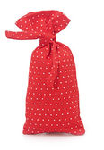 Red polka dot bag — Stock Photo