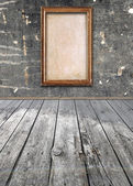 Interior of vintage room with frame on wall — Stock Photo
