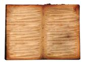 Otevřít staré knize izolovaných na bílém pozadí — Stock fotografie