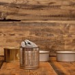 Used tin cans background — Stock Photo #32028835