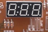 Digital clock show zero hours zero minutes — Stock Photo