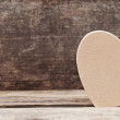Love heart on wooden background, valentines day and wedding card — Stock Photo #32492137