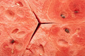 Red texture of sweet watermelon — Stock Photo