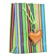 Stock Photo: Colorful paper shopping bag with brown heart