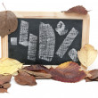 Autumn discount. Forty percent written on blackboard — Stock Photo