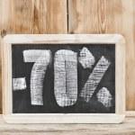 Seventy percent discount written on blackboard — Stock Photo #33309857