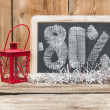 Stock Photo: Eighty percent discount written on blackboard