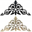 Stock Photo: Golden and black collection of carved decorative elements