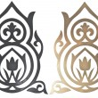 Golden and black collection of carved decorative elements — Stock Photo #33604935