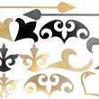 Golden and black collection of carved decorative elements — Stock Photo #33605091