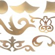 Stock Photo: Golden collection of carved decorative elements