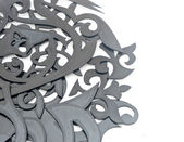 Pile of carved decorative elements — Stock Photo