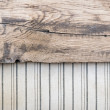 Old fabric background border wooden plank — Stock Photo