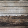 Old room, old fabric background border wooden plank — Stock Photo