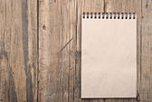 Коричневий пуста нотатка книги по дереву гранж — Stok fotoğraf