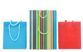Colourful shopping bags isolated on white — Foto Stock