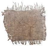 Beyaz arka plan üzerinde izole mükemmel eski bez torba — Stok fotoğraf