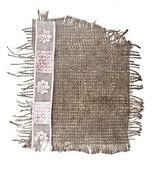 Cloth sack isolated on white background — Stock Photo