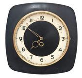 Rusty retro wall clock isolated on white background — Stock Photo