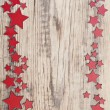 Stars on a old wooden background — Zdjęcie stockowe