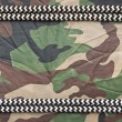 Marine ropes on background of green camo — Stock Photo