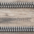 Stock Photo: Frame of rope on old wooden background