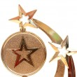 Stock Photo: Star award against white background