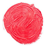 Red paint drawn with brush stroke — Stok fotoğraf