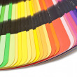 Color guide spectrum swatch samples rainbow on white background — Stock Photo #35377569