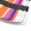 Color guide spectrum swatch samples rainbow on white background — Stock Photo #35377787