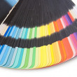 Color guide spectrum swatch samples rainbow on white background — Stock Photo #35377845
