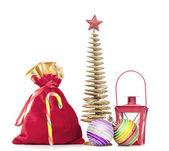 Christmas decoration on the white isolated background — Stock Photo