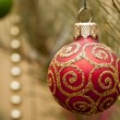 Stock Photo: Closeup of Christmas ball from Christmas tree.