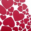 Stock Photo: Red hearts background on white