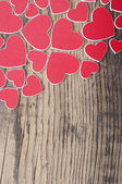 Red hearts background with copy space. love concept — Stock Photo