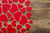Valentine's day background with red heart — Foto Stock