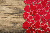 Valentine's day background with red heart — Stok fotoğraf
