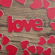 Word ''love'' on a old wood planks. — Stock Photo #39807819