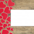 Holidays card with heart as a symbol of love. Valentines day card — Stock Photo