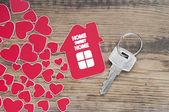 Key with label home — Stock Photo