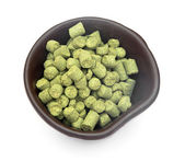 Pellets of hops — Stock Photo