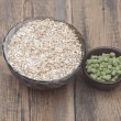 Barley with pellets of hops — Stock Photo #42985923