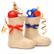 Children's boots with gifts — Stock Photo #4400620