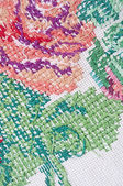 Multicolor floral hand embroidery pattern — Foto de Stock