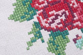 Multicolor floral hand embroidery pattern — Stock fotografie