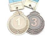 Gold,silver and bronze medals  — Stock Photo