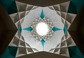 Star Shaped Islamic Design of Ceiling — Stock Photo