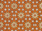 Orange Islamic Arabesque Pattern — Stock Photo
