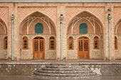 Old Brickwork Architecture of a Persian Caravansary — Stock Photo