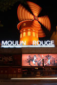 Entrance to Moulin Rouge of Paris at night — Stock Photo